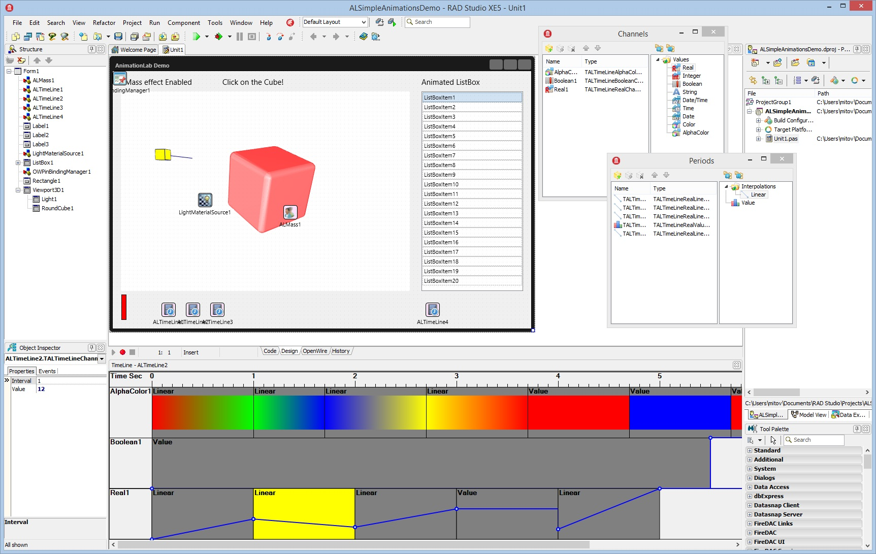 AnimationLab VCL screen shot