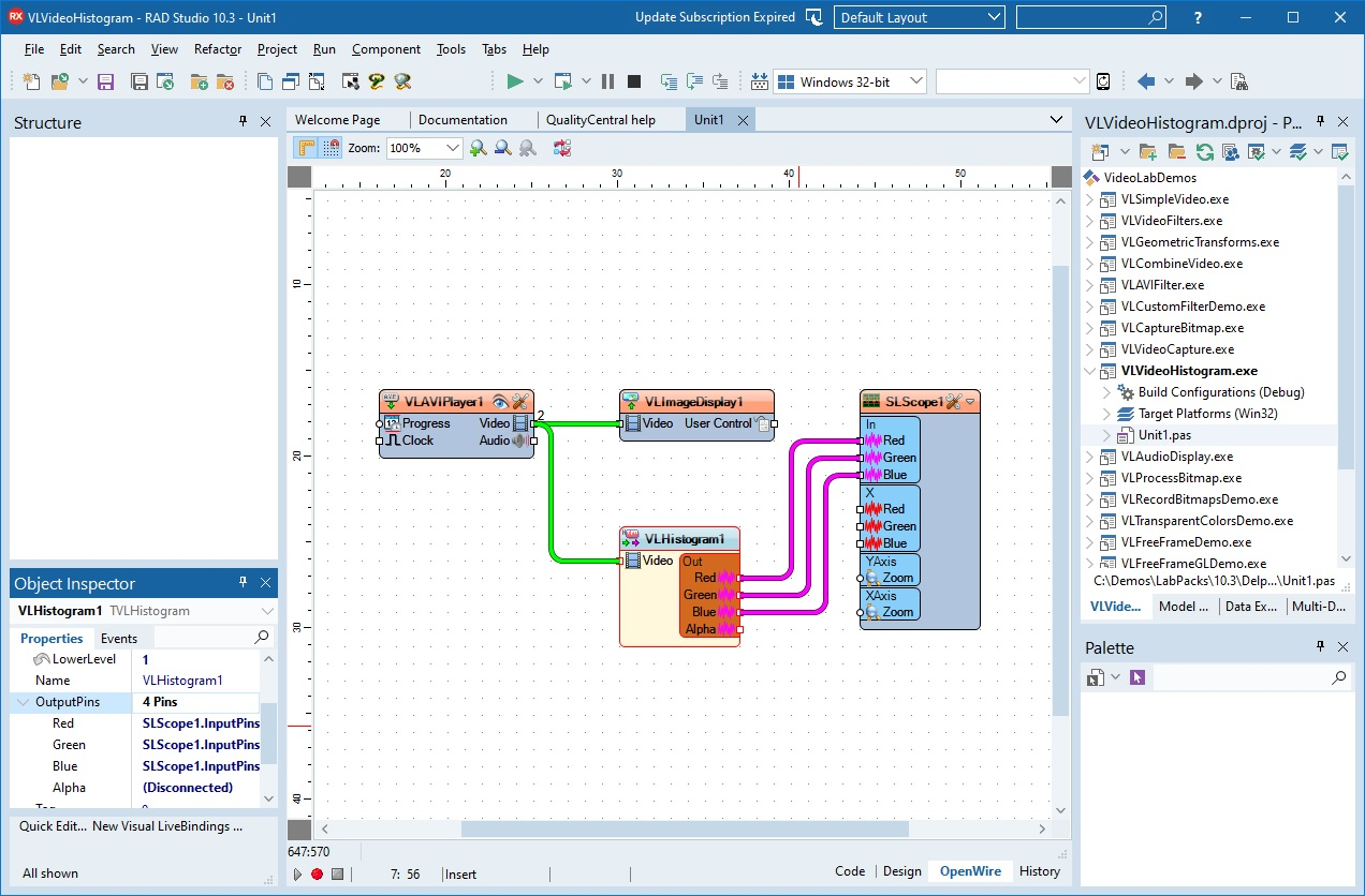 OpenWire Editor in RAD Studio 10.3